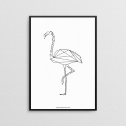 Geometric - Flamingo